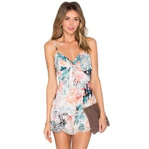 NWT Lovers + Friends Bello Eyelet Floral Romper